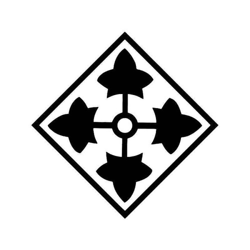 4th Infantry Division Fort Son Army Vinyl Sticker