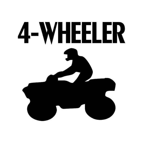 4 Wheeler Atv Vinyl Sticker