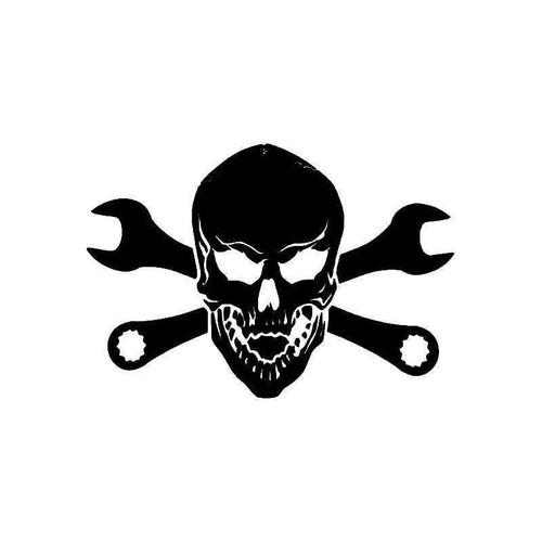 6 Inch Tool Wrench Death Skull 1 Vinyl Sticker