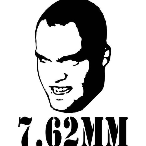 7.62mm Full Metal Jacket Vinyl Sticker
