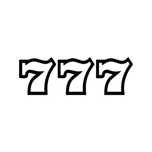 777 Casino Slot Its Vinyl Sticker