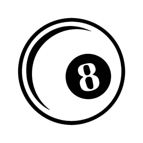 8 Ball Billiard Pool Vinyl Sticker