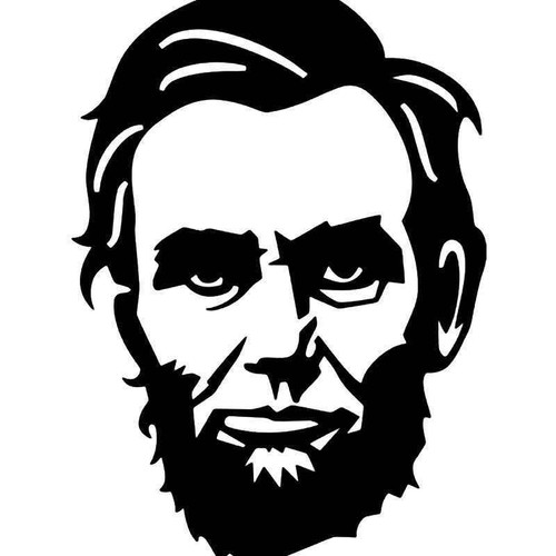 Abe Lincoln 16th President Vinyl Sticker