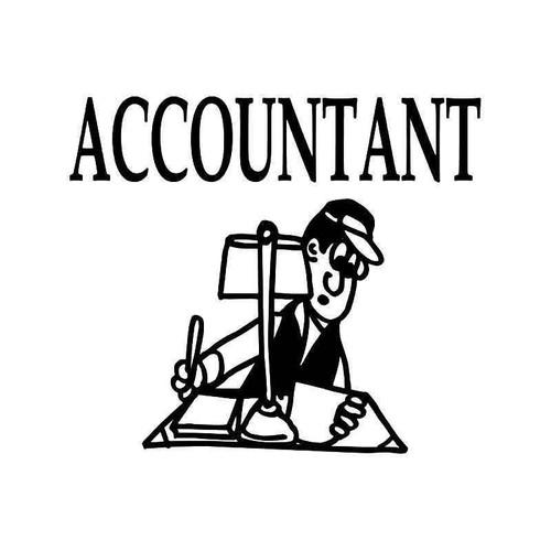 Accountant Tax Vinyl Sticker