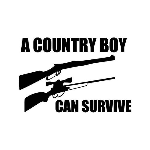 A Country Can Survive Guns Vinyl Sticker