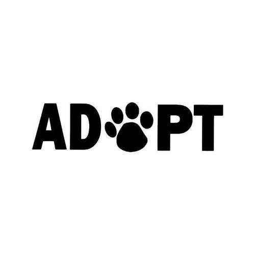 Adopt Dog Paw Print 1 Vinyl Sticker