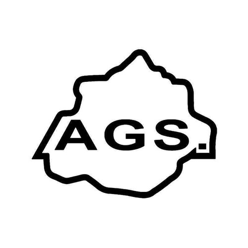 Ags Aguacalientes Mexico State Map Vinyl Sticker