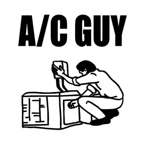 Air Condition Guy Vinyl Sticker