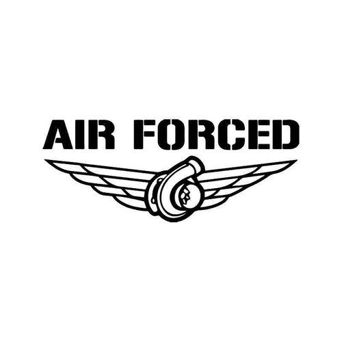 Air Forced Turbo Jdm Japanese Vinyl Sticker