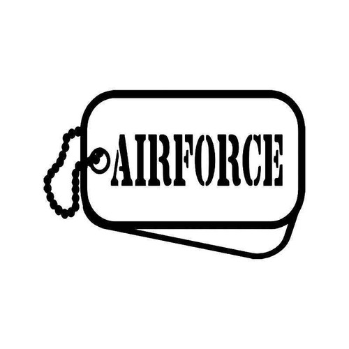 Air Force Military Tags Vinyl Sticker