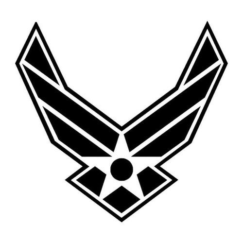 Air Force Symbol With Border Vinyl Sticker