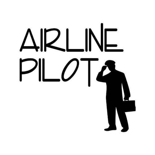 Airline Pilot Plane Vinyl Sticker