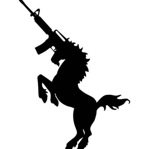 Ak47 Assault Rifle Unicorn Vinyl Sticker