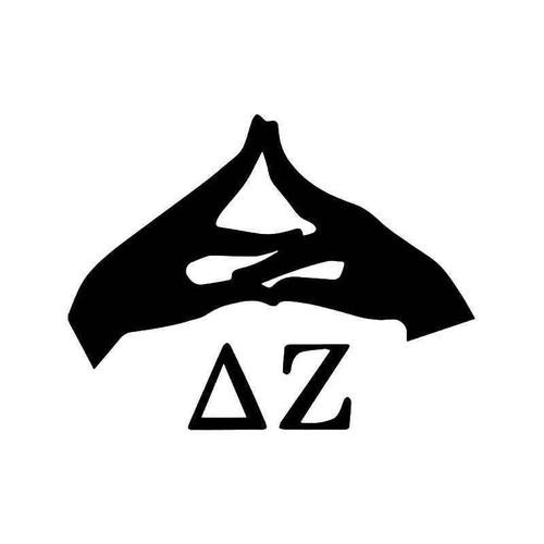 Alpha Zeta Hands Sign Greek Sorority Vinyl Sticker