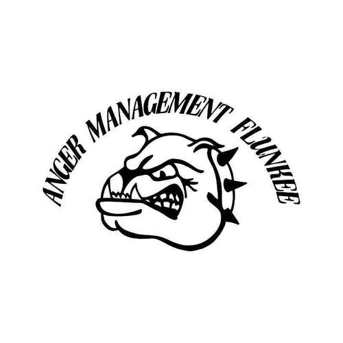 Anger Management Flunkee Vinyl Sticker