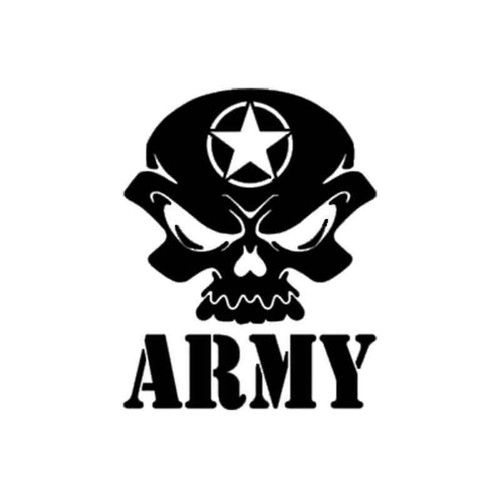 Army Skull 1036 Vinyl Sticker