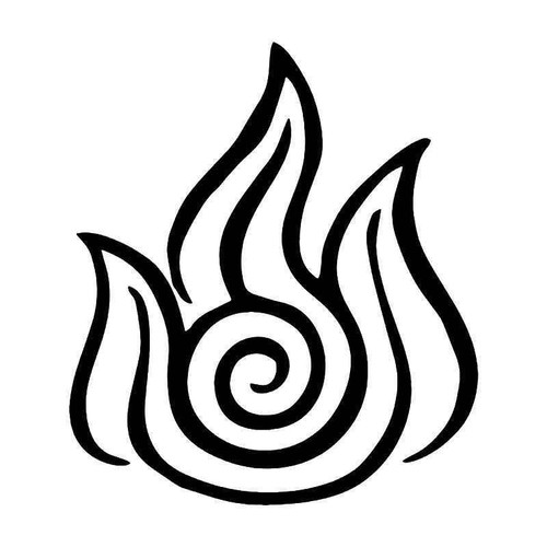 Avatar Fire Nation Vinyl Sticker