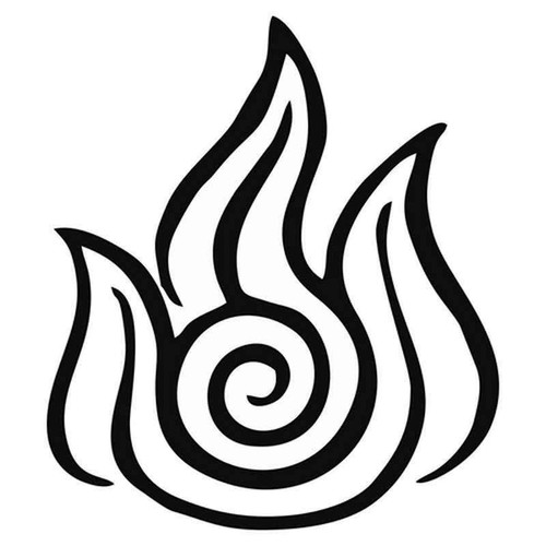 Avatar Fire Nation Symbol 1910 Vinyl Sticker