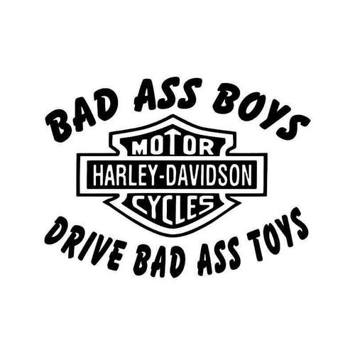 Bad Ass Boys Drive Bad Ass Toys Motorcycle Vinyl Sticker