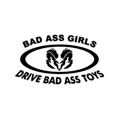 Bad Ass Girls Drive Bad Ass Toys Dodge Vinyl Sticker