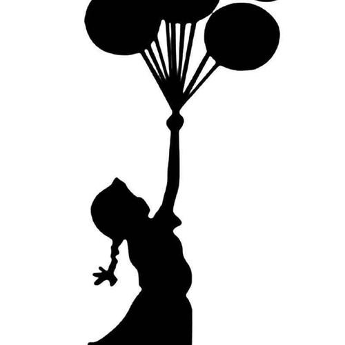 Balloon Girl Banksys Vinyl Sticker
