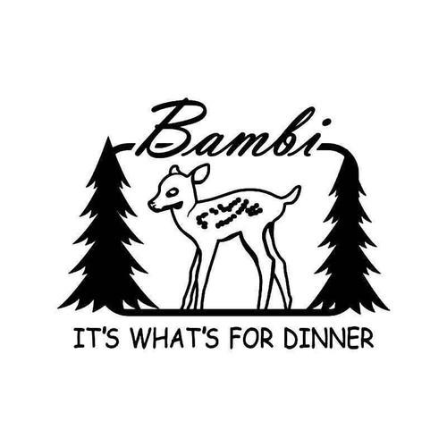 Bambi Deer Buck Hunting Vinyl Sticker