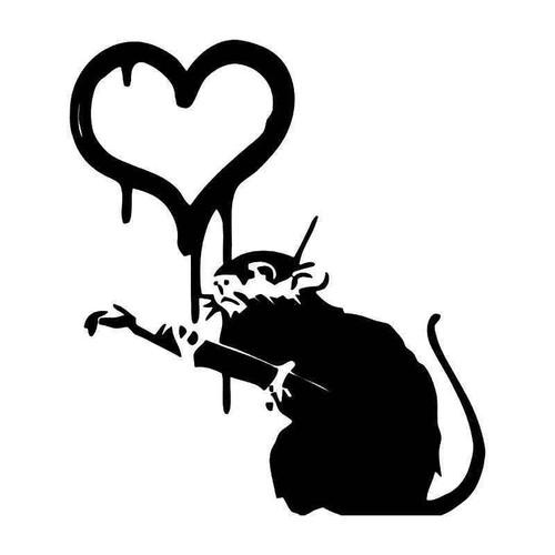 Banksys Rat Vinyl Sticker