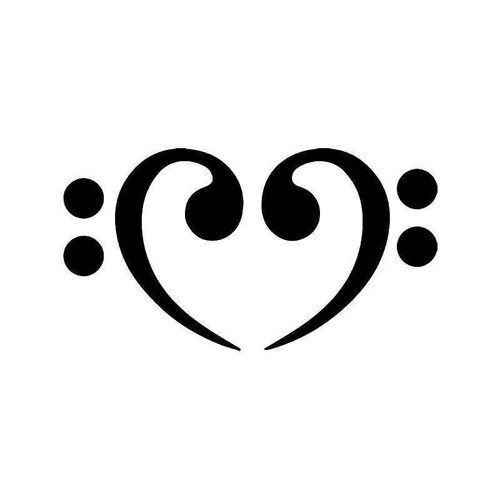Bass Clef He Love Vinyl Sticker