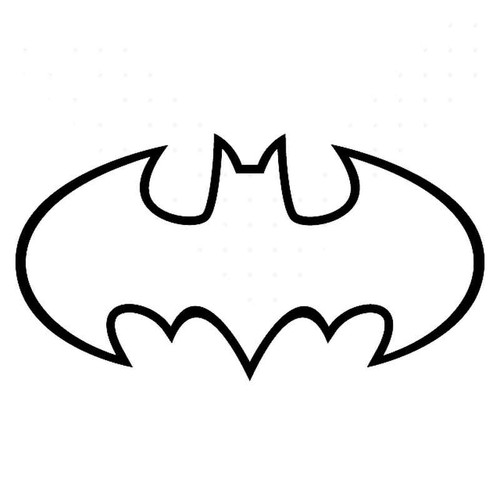 Batman 1989 Movie Symbol Outline Vinyl Sticker