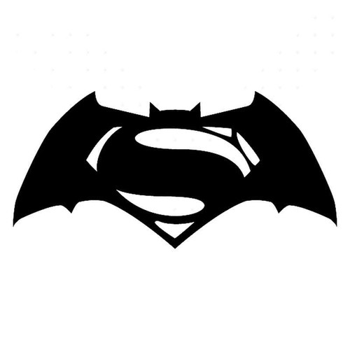 Batman Vs Superman Dawn Of Justice Symbol Vinyl Sticker