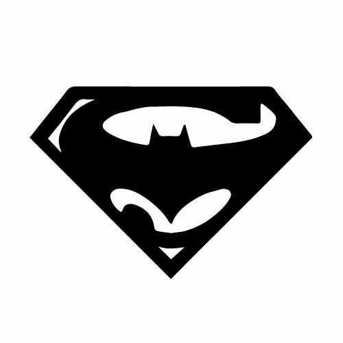 Superman Vs Batman Vinyl Decal Sticker  Size option will determine the size from the longest side Industry standard high performance calendared vinyl film Cut from Oracle 651 2.5 mil Outdoor durability is 7 years Glossy surface finish