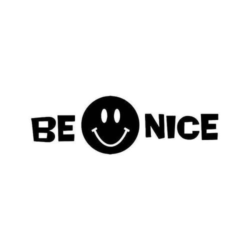 Be Nice Smiley Vinyl Sticker