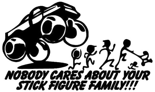 Bigfoot Truck Stick Figure Family
