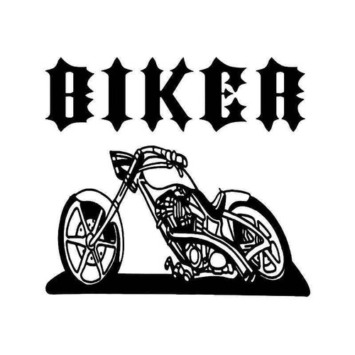 Biker Inside Motorcycle Vinyl Sticker