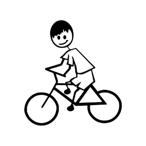 Biking Sport Stick Figure Vinyl Sticker