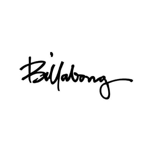 Billabong Logo 3 Vinyl Sticker