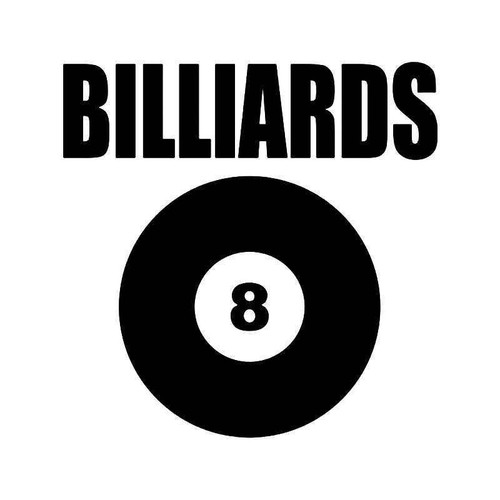 Billiards Vinyl Sticker