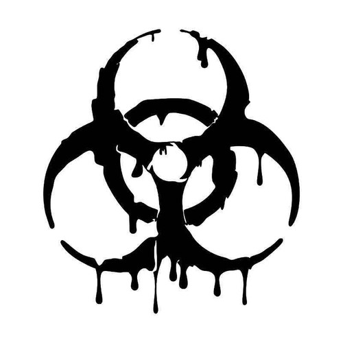Biohazard Melting Vinyl Sticker