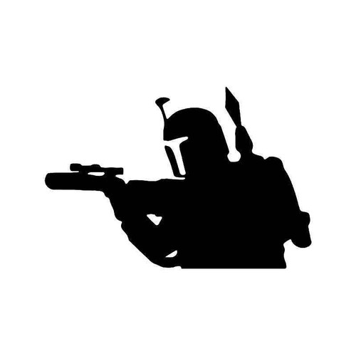 Boba Fett Attack Star Wars Vinyl Sticker