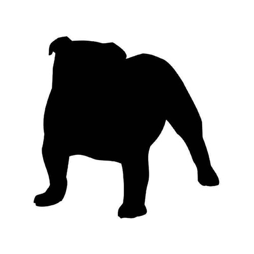 Bulldog Dog 1 Vinyl Sticker