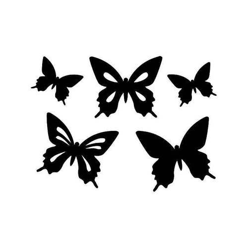 Butterflies Flying 1 Vinyl Sticker
