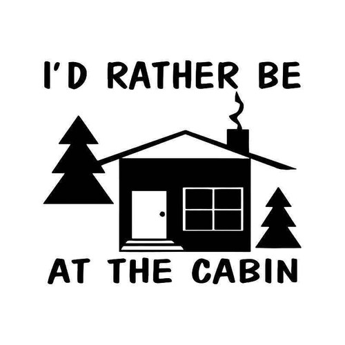 Cabin Forest Vinyl Sticker