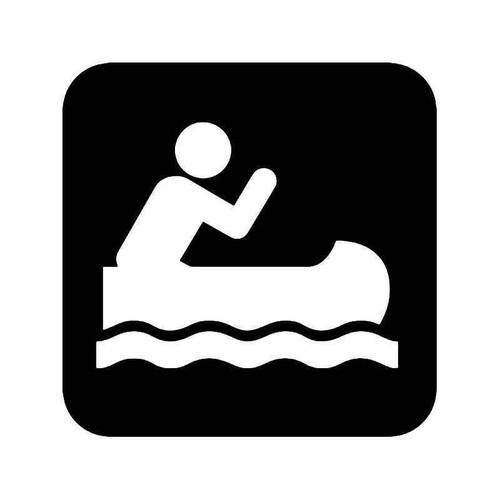 Canoeing Canoe Vinyl Sticker