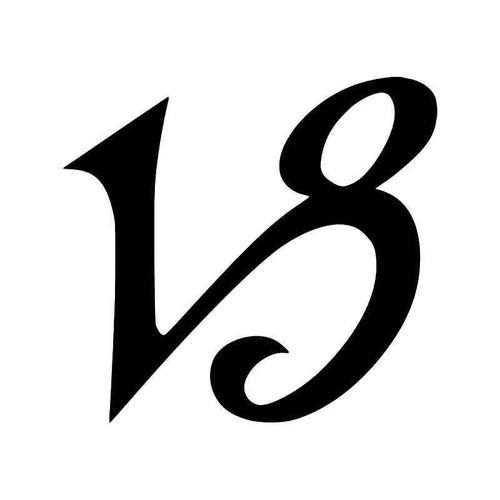Capricorn Horoscope Symbol Vinyl Sticker