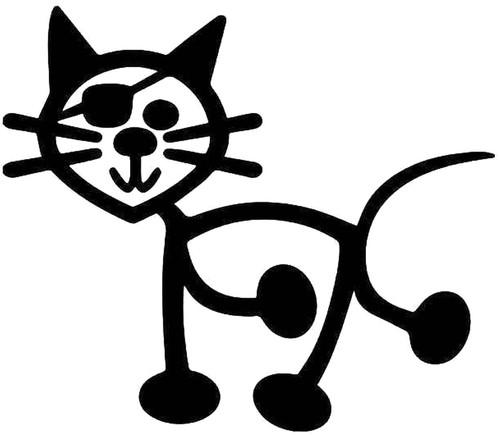 Cat Pirate Stick Figure