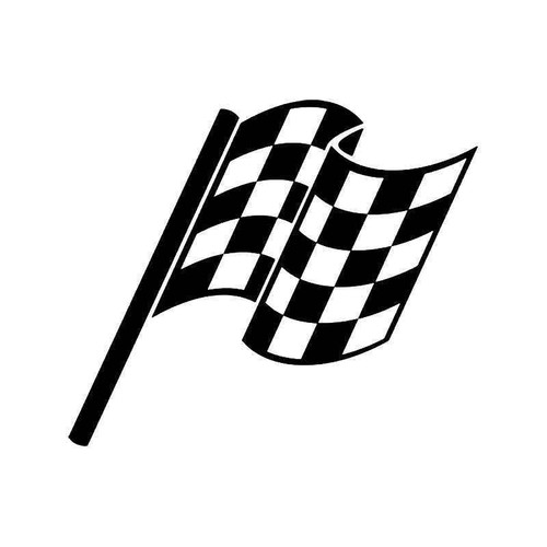Checkered Racing Flag 13 Vinyl Sticker