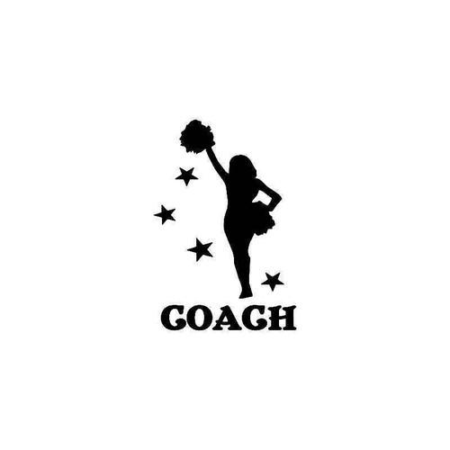 Cheer Coach Vinyl Sticker