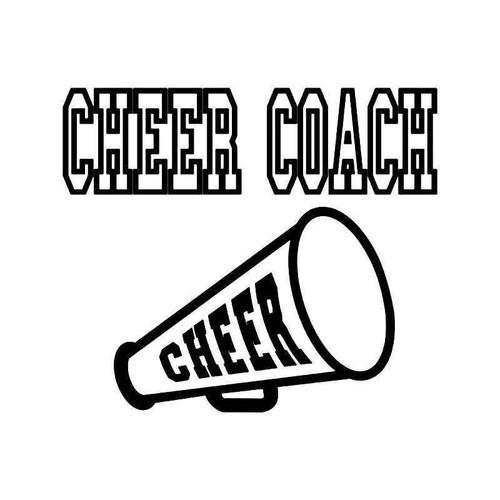 Cheer Coach 3 Vinyl Sticker