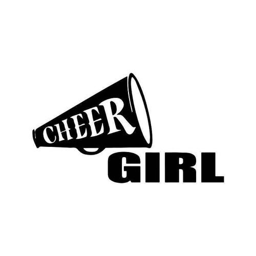 Cheer Girl Cheerleading Vinyl Sticker