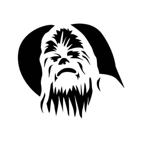 Chewbacca Star Wars 1 Vinyl Sticker